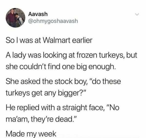 Dead turkeys - meme