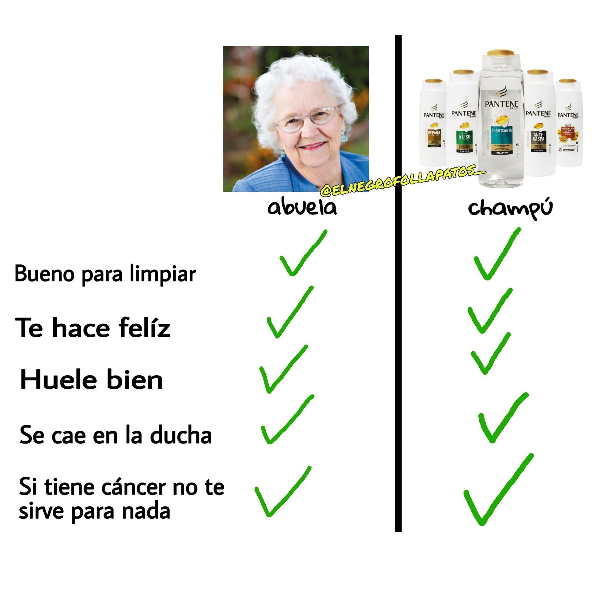 Abuela/Champú - meme