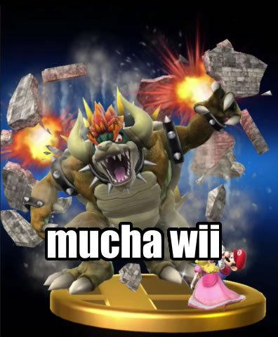 Mucha Wii, meme que hice basandome en el meme de Mucha Play, y poniendo a Giga Bowser como si fuera el Yoda rapero