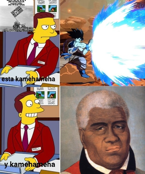 Virgin Kamehameha fan va Chad Kamehameha enjoyer - meme