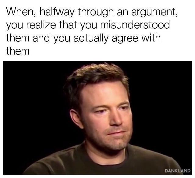 Hard to admit it - meme