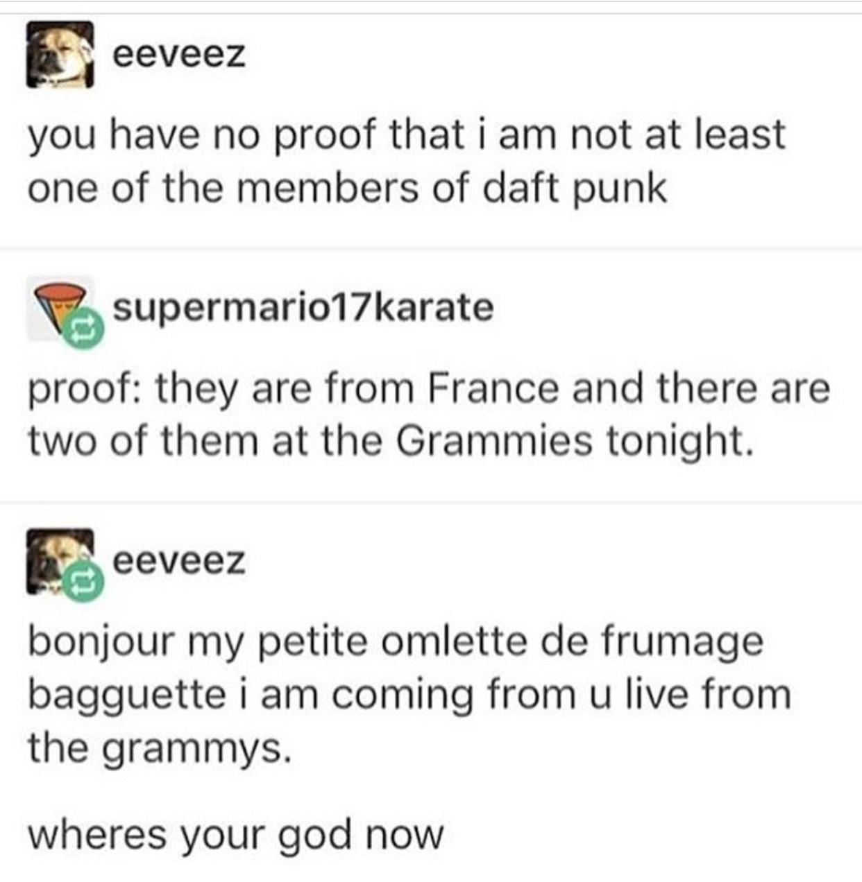bonjour my petite omelette - meme
