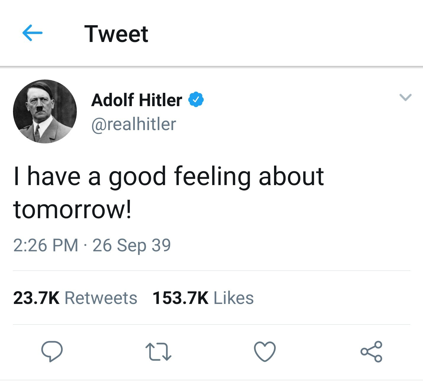 I didn't know Twitter existed in 1939 - meme