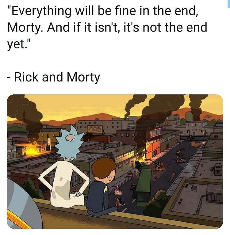 Life Lessons by Rick & Morty. - meme