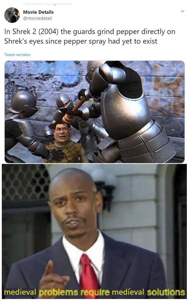 No pepper spray in Shrek - meme