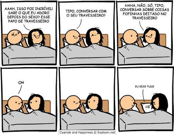 Conversa de travesseiro - meme