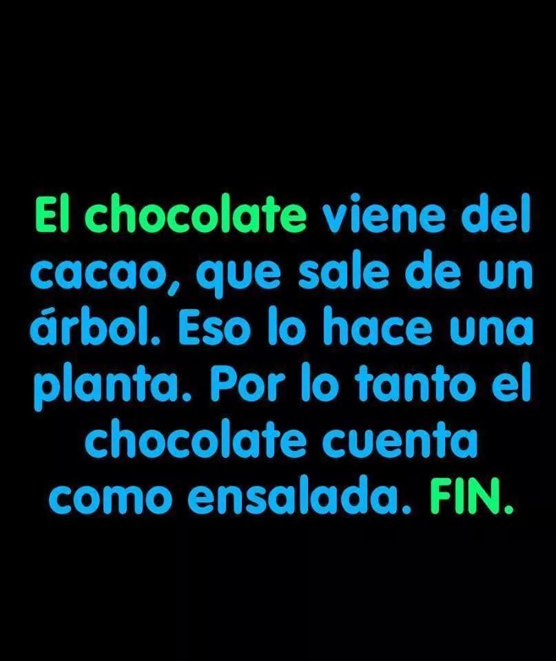 El chocolate es nutritivo - meme