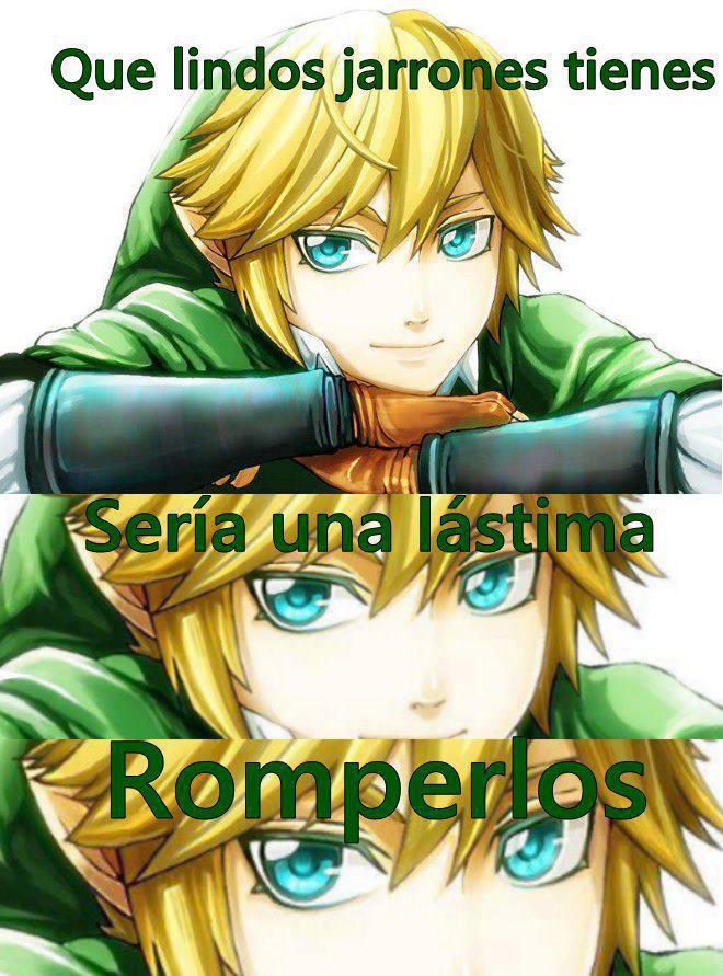 Link y su pequeña obsesion con los jarrones... - meme
