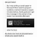 Mother of procrastinating