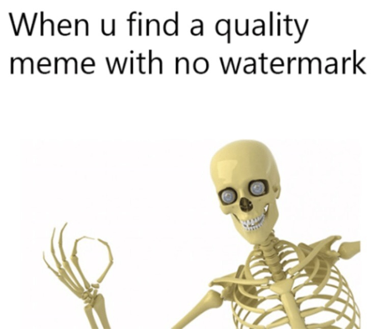 Watermark free my niggas - meme