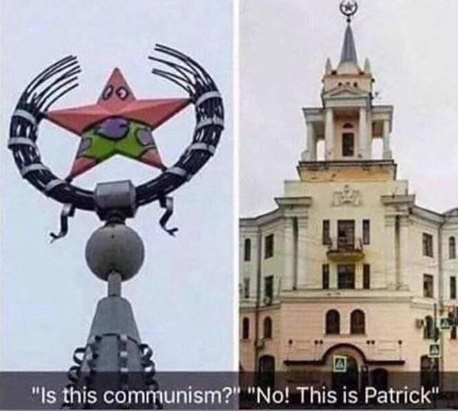 Pratick é Comunista e o Bob Esponja é Chines - meme