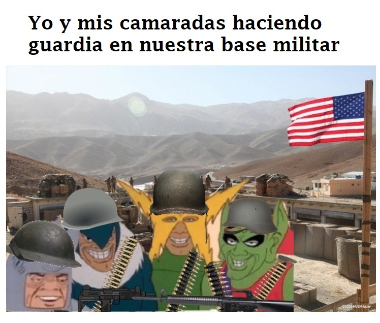 Alguno aqui fue o es soldado? - meme