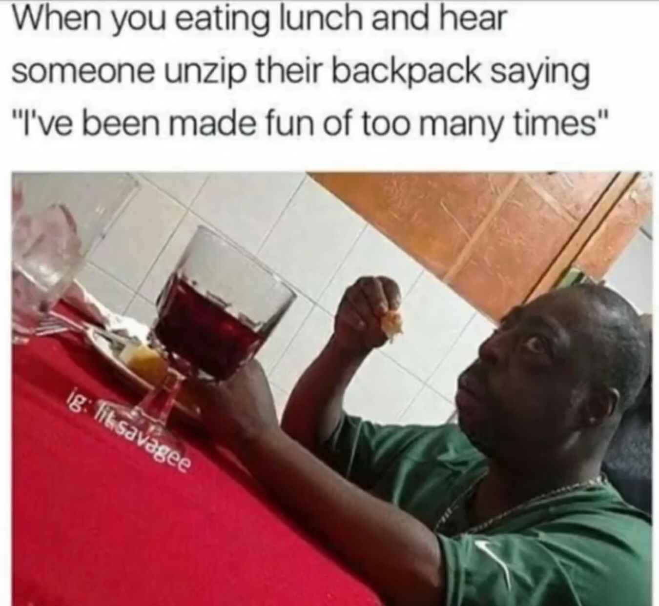 I would finish eating - meme