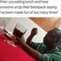 I would finish eating