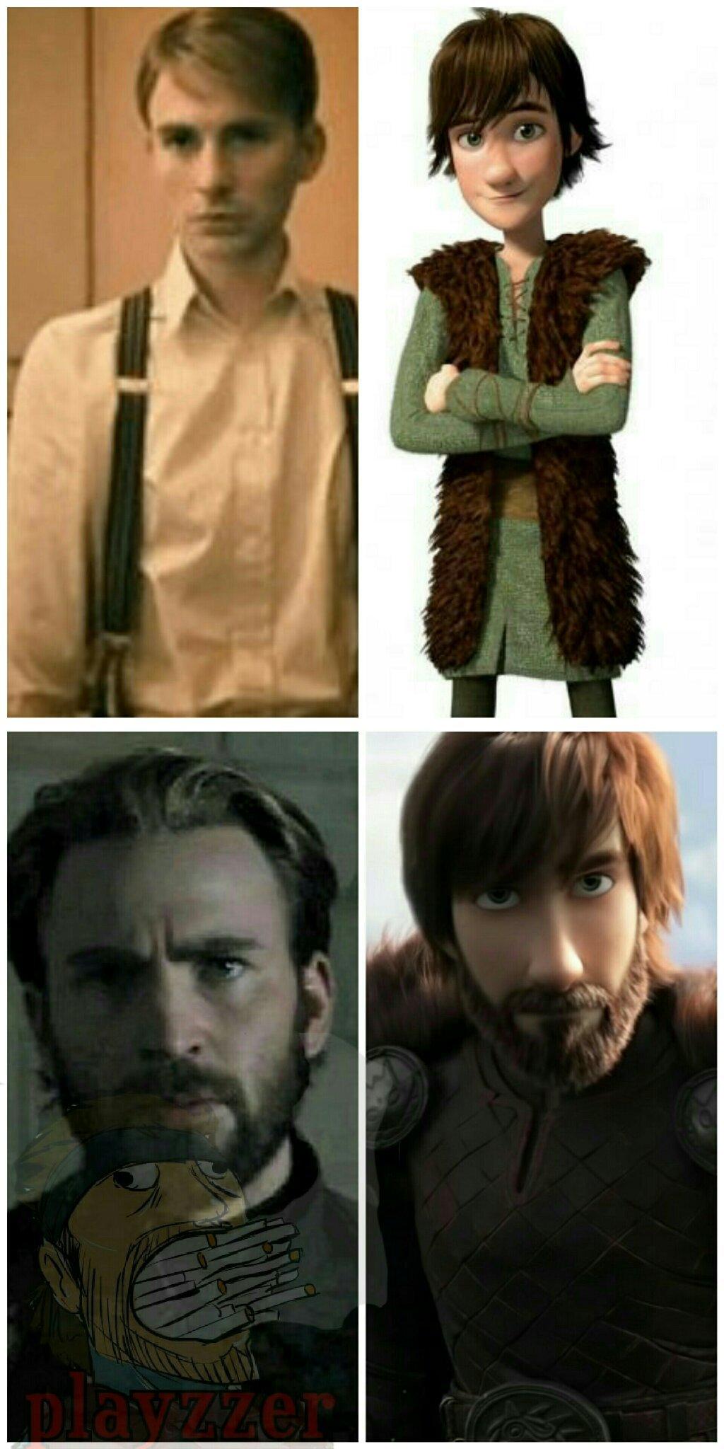Capitão soluço, qualquer coincidência e pura semelhança - meme