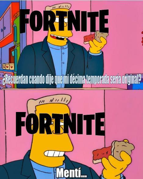 Fortnite hizo Repoio,perdón si la calidad es mala - meme