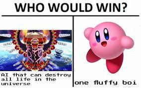 AI VS A PINK FAT BOI - meme