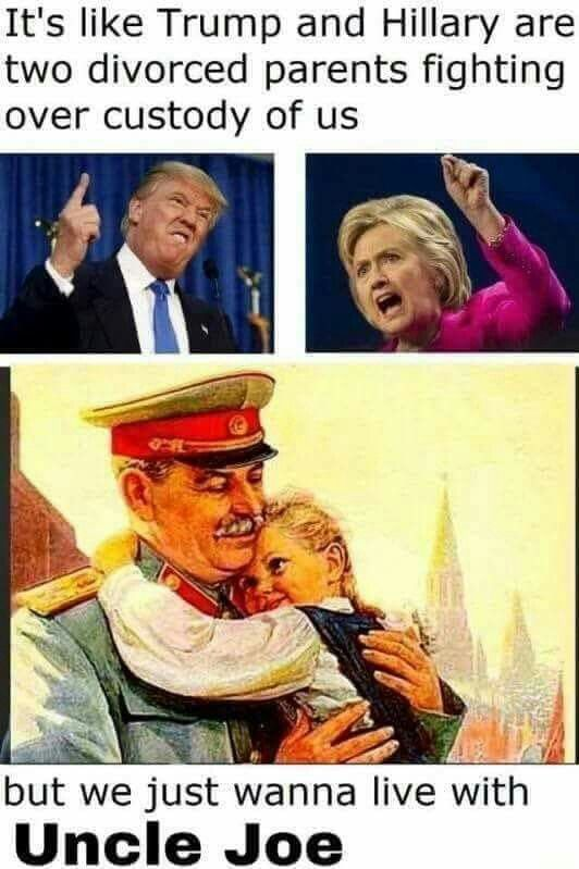 """(Stalin was called""""Uncle Joe"""" by Churchill and FDR) - meme"""