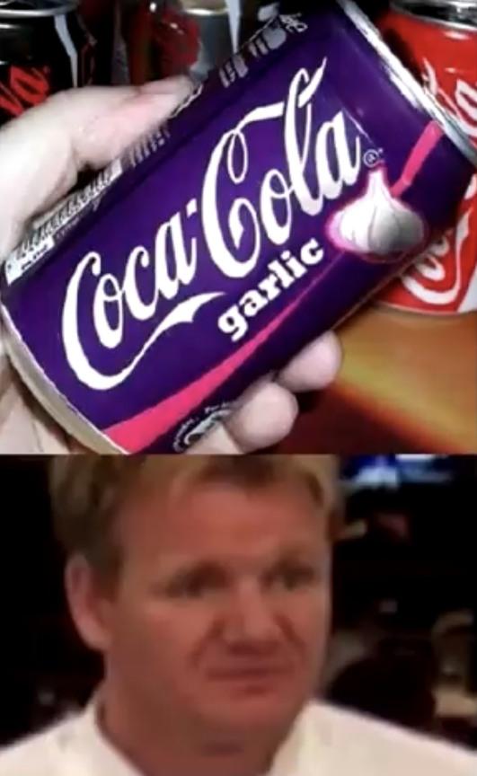 go commit garlic cola - meme