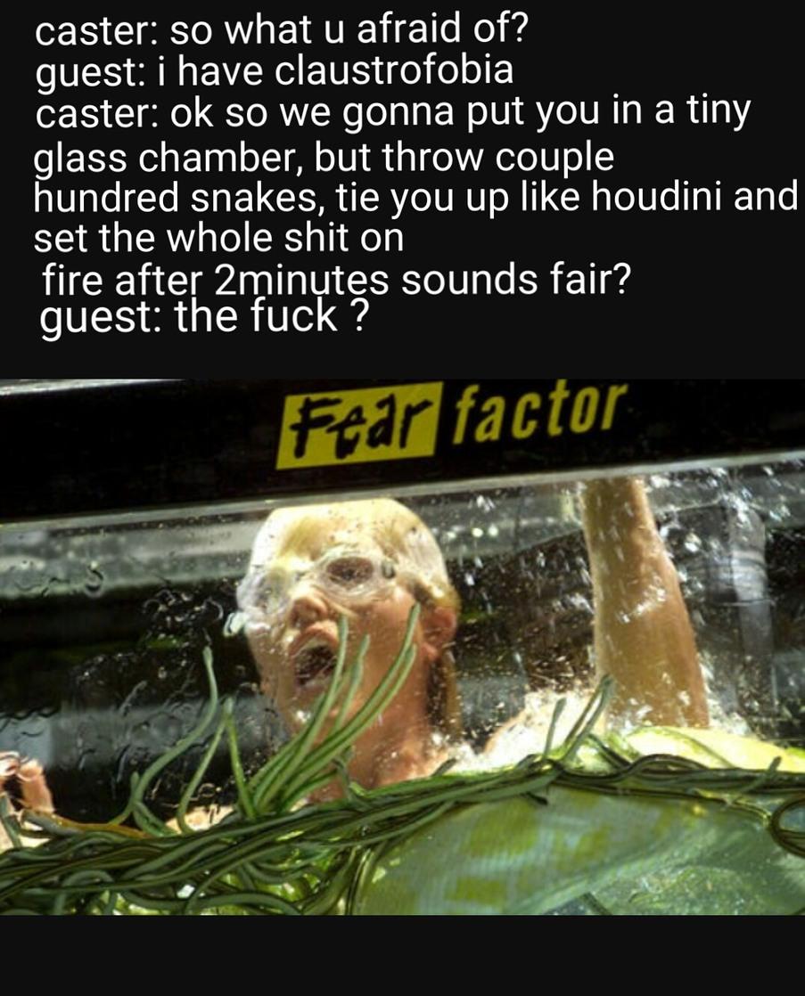 Classic fear factor - meme