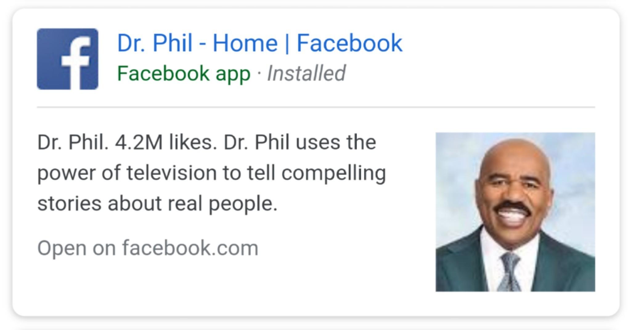 Dr Phil got a tan - meme