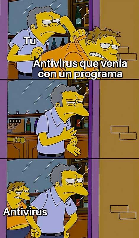 Cuando intentas desinstalar el antivirus que venia con el programa pero se vuelve a instalar - meme