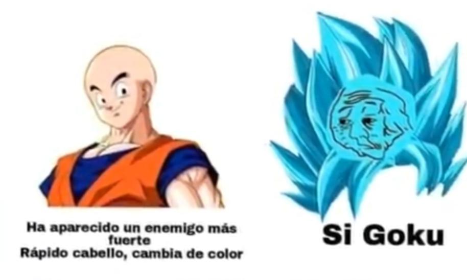 Goku pelon - meme