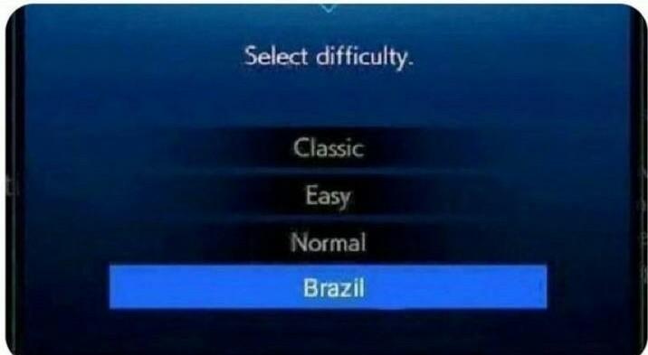 Dificultad brasil - meme