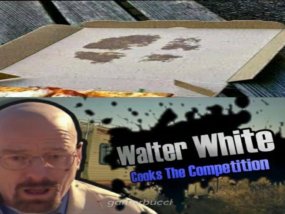 Heisenberg tirando la pizza al tejado :o - meme
