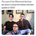 The cast of the Office in the early days