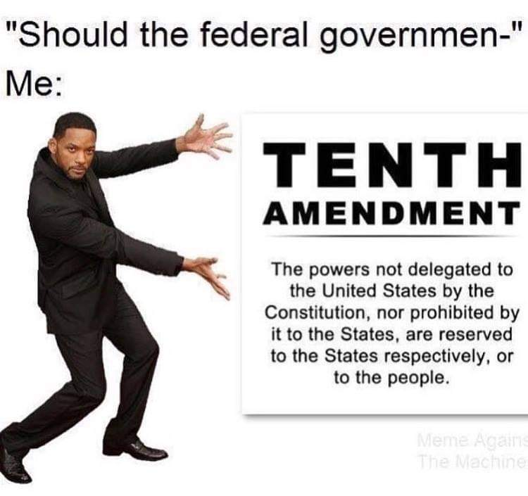 Should the federal government do nothing? - meme