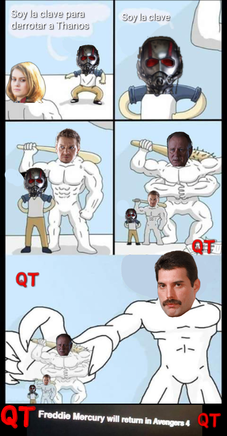 El que está entre Hawkeye y Freddie es Selvig - meme