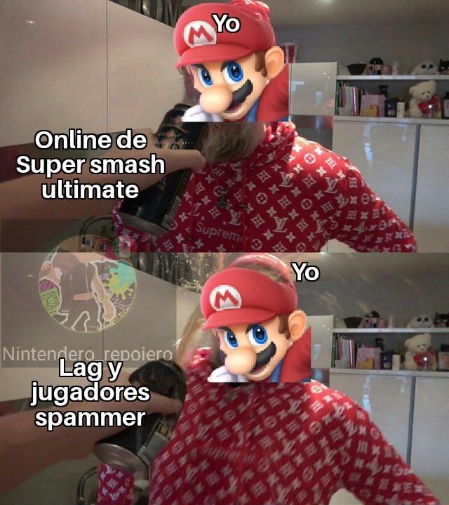 Smash bros ultimate es el juego mas hermoso de la franquicia - meme