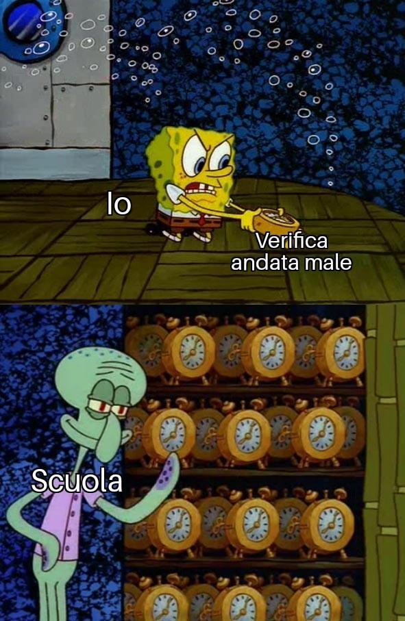 Situazione a scuola - meme