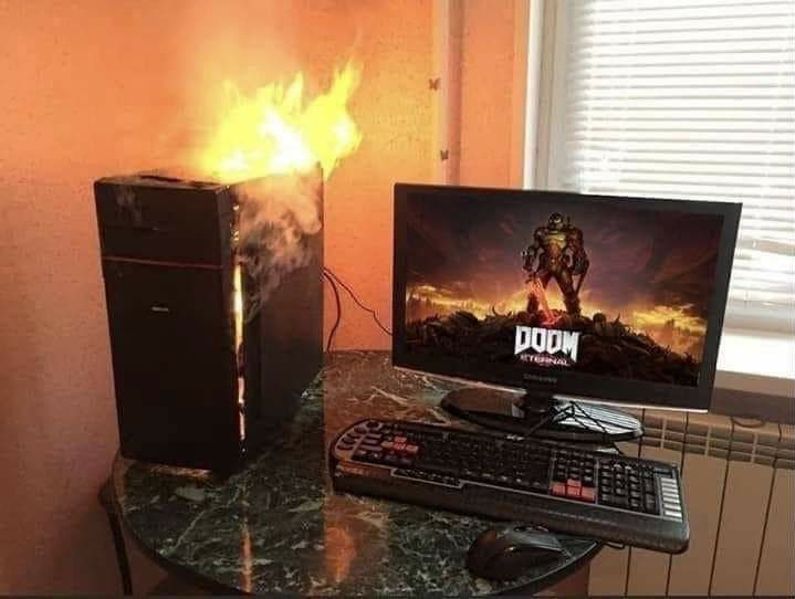 Bringing hell to a PC near you - meme