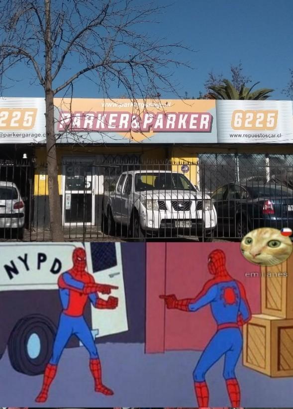 Estaba pensando en el hombre araña y encontré esto en la calle jajaja - meme