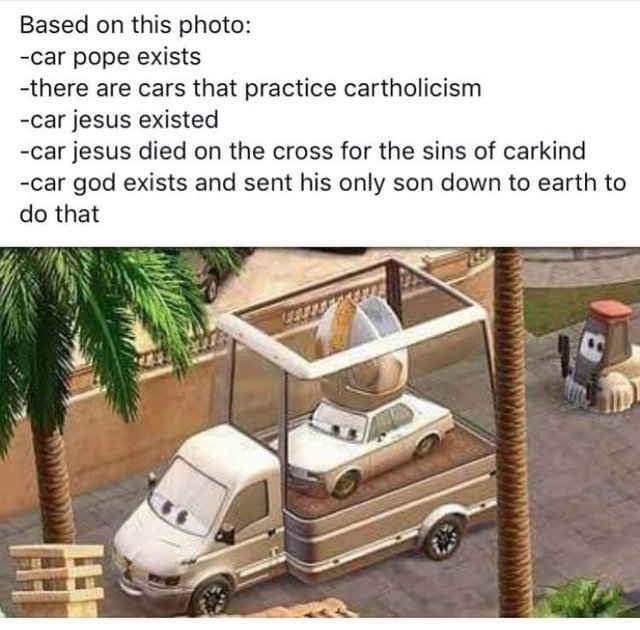 Car pope exists - meme