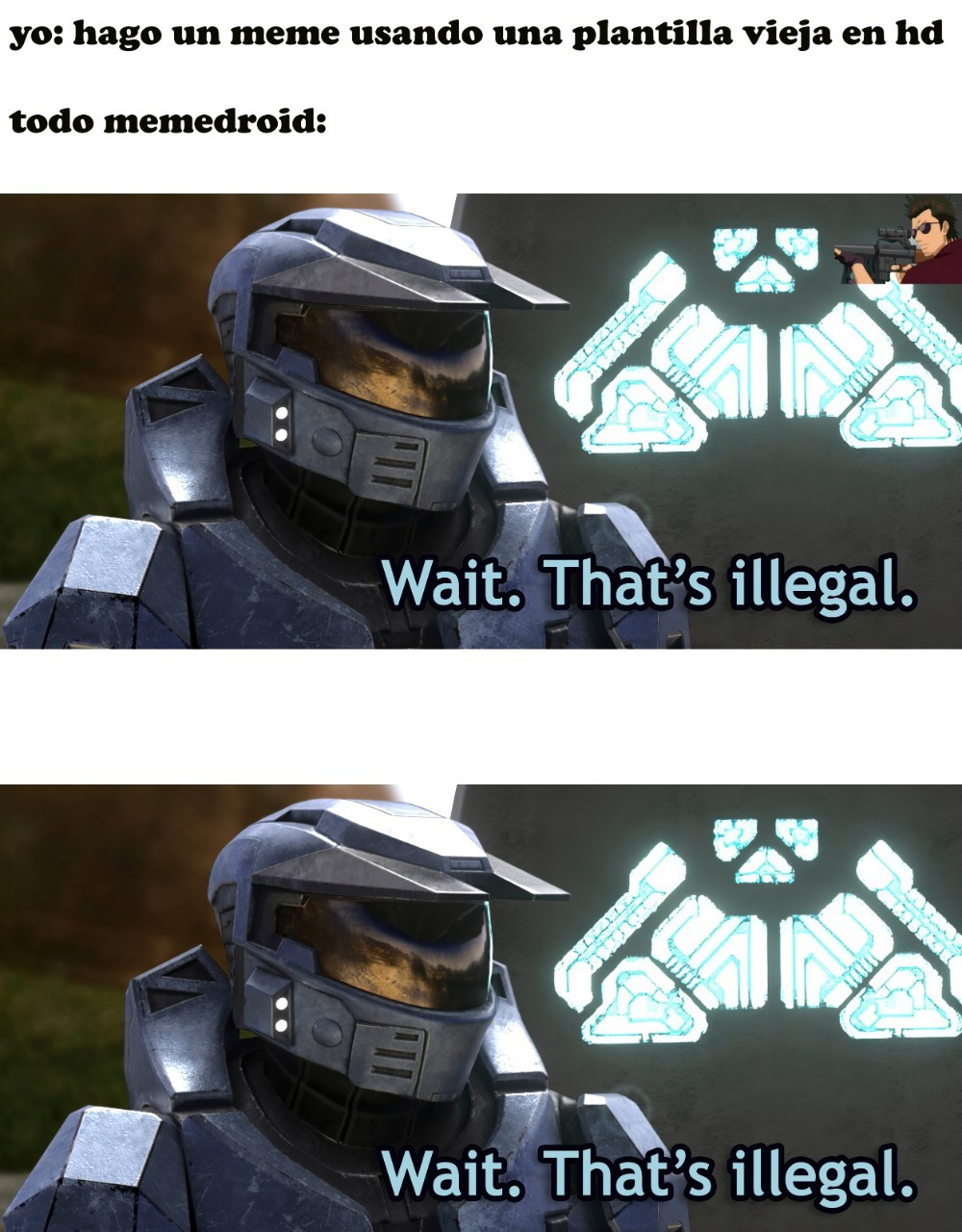 RED VS BLUE EN HD - meme