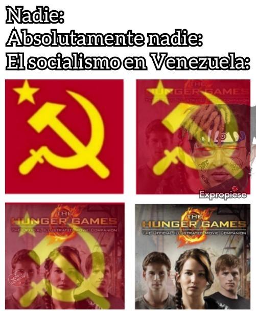 Lo más cómico es que el meme también está hecho en socialismo ¯\_(ツ)_/¯