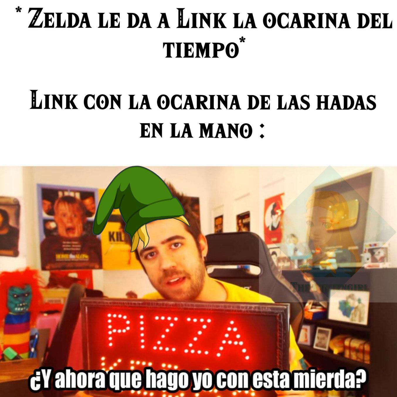 el titulo se fue a salvar a Zelda - meme