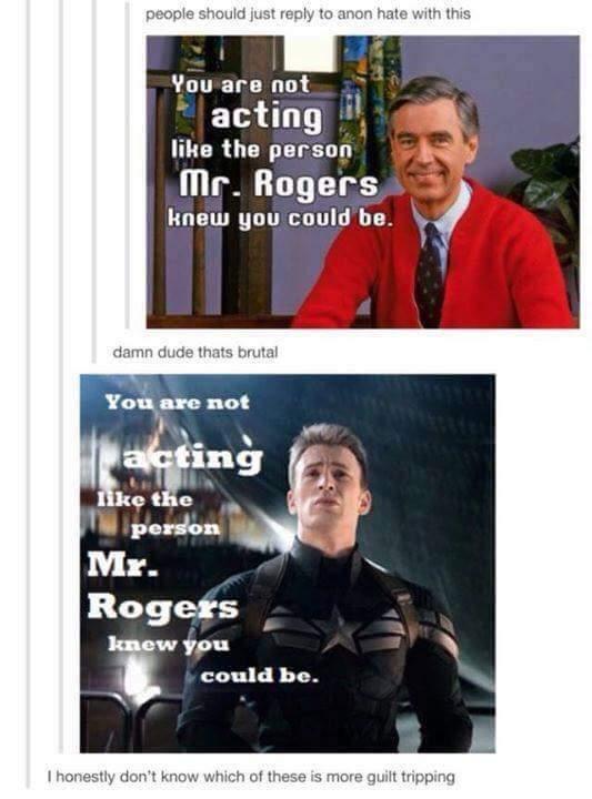 Mr Roger's bad feel train - meme