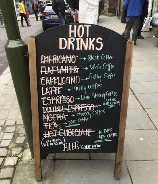 Beer is not coffee - meme