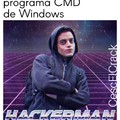 "Tecla windows + r + ""cmd"" + enter"