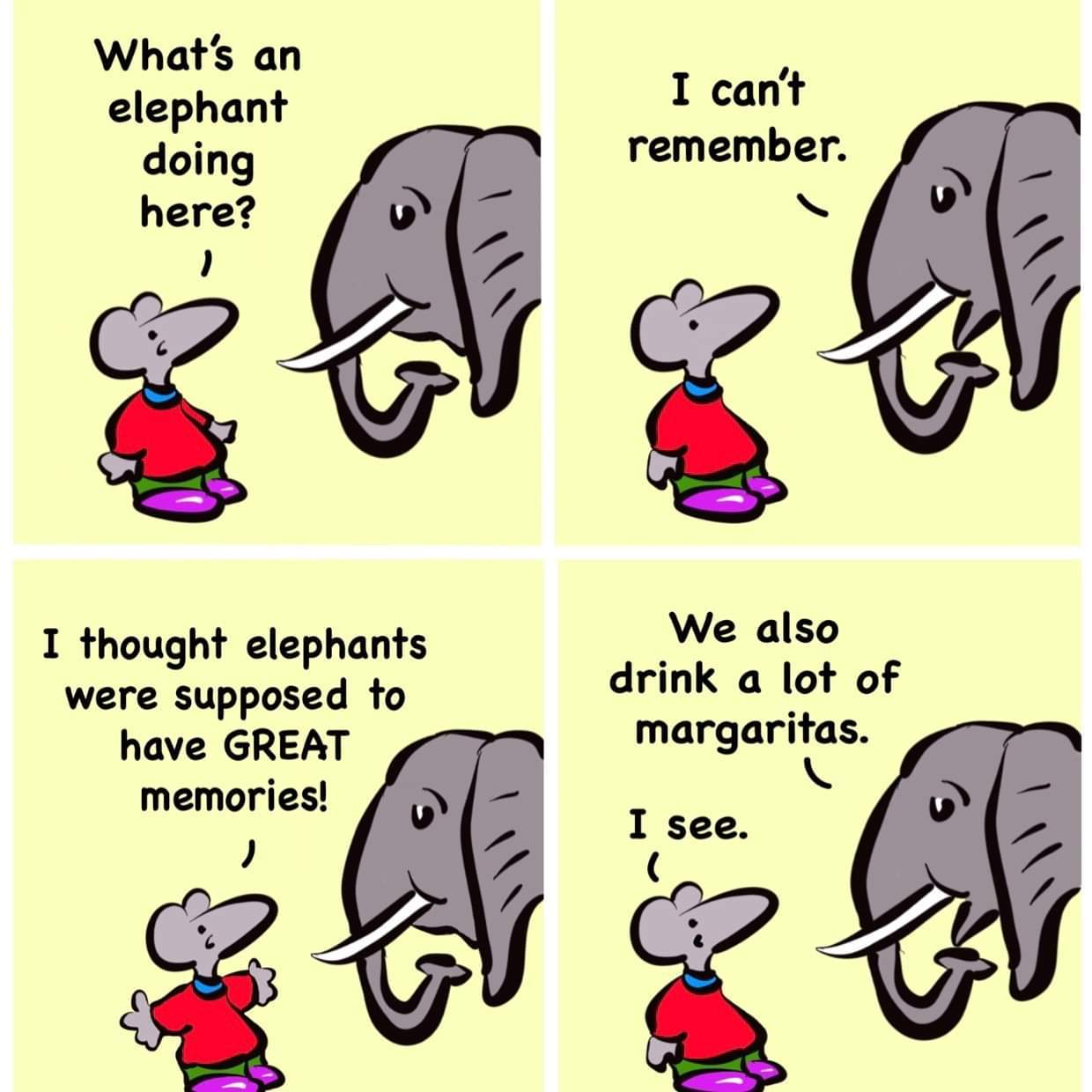 Elephants - meme
