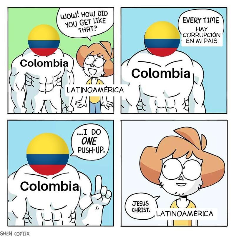 Colombia mamado - meme