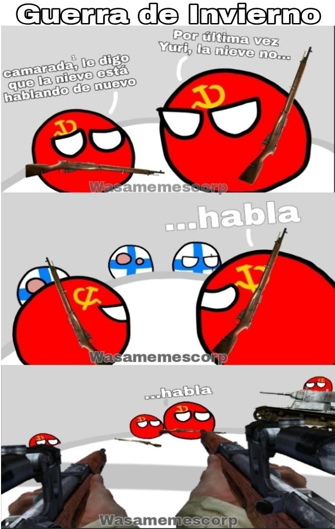 La Finlandiaball molesta es Symo Hayha, 100% original - meme