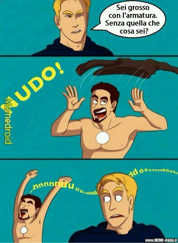 Per chi non lo sapesse, sono Iron Man e Captain America :P - meme
