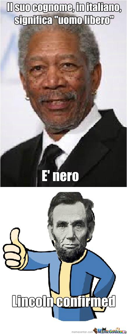 Per gli ignorantoni: free significa libero, man significa uomo, free man significa uomo libero - meme