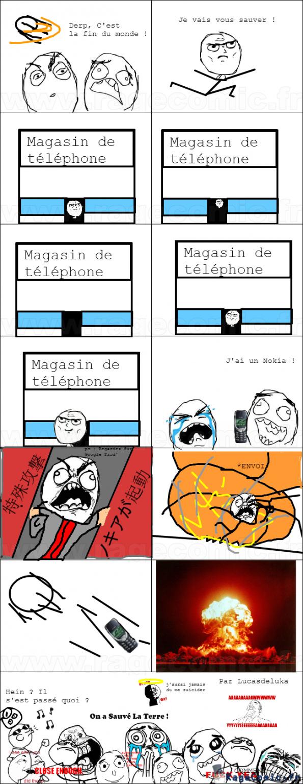 Sauvé par un Nokia - meme