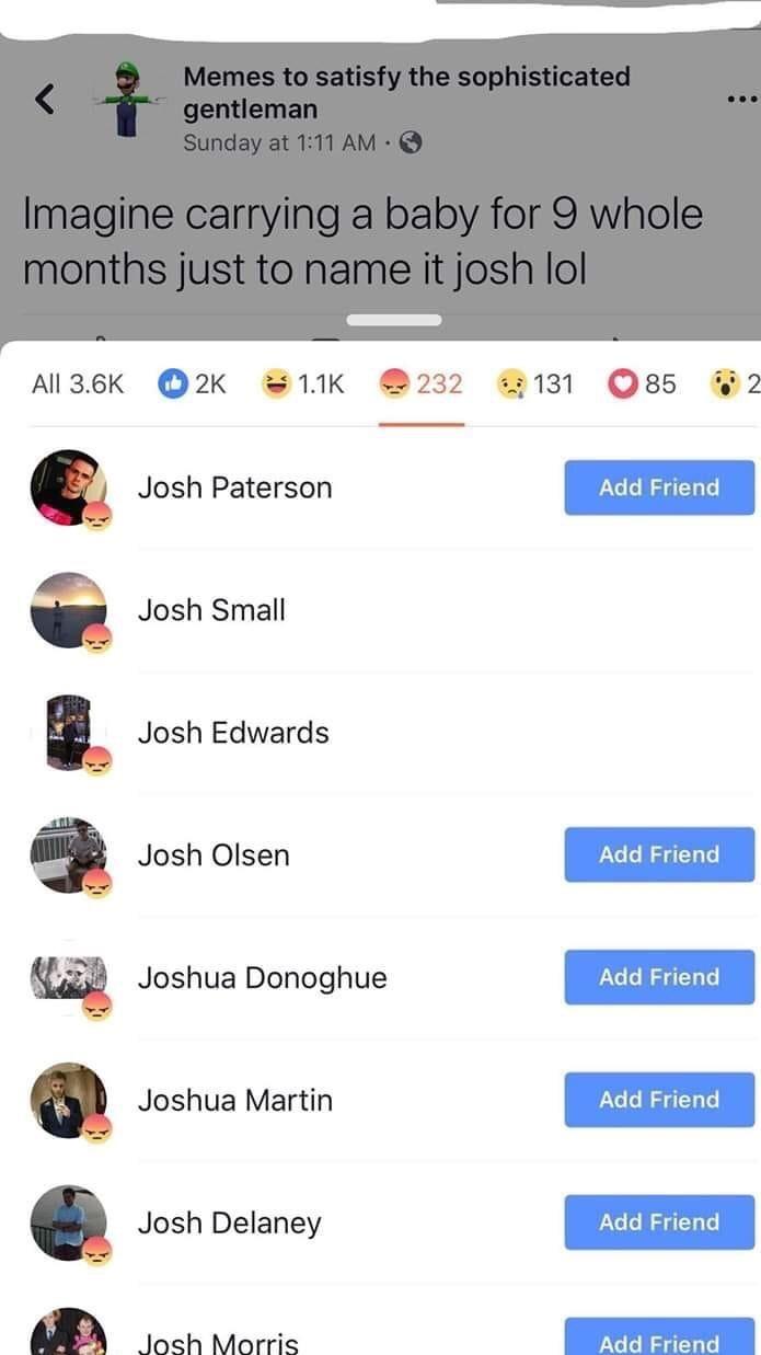 Josh - meme